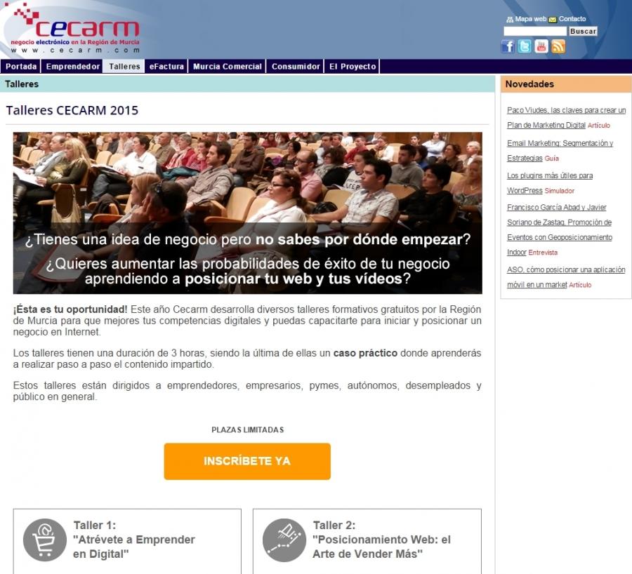 Talleres CECARM 2015
